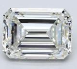 GIA 2.81ct J, VS2 Emerald Cut Diamond